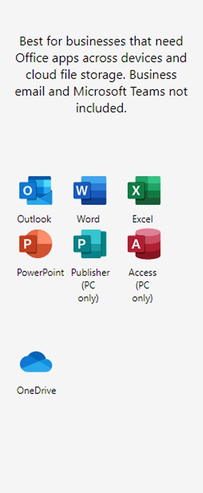 Microsoft 365 Business Apps Plan